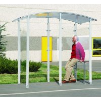 Easy-To-Assemble Steel Framed Smoking Shelters