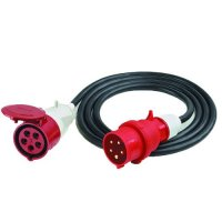 400-Volt Mains Connector Cable for Electric Fan Heaters up to 15kW