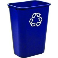 Rubbermaid Easy Clean, Soft Waste, Rectangular Bins