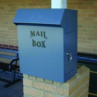 Slimline Galvanised Mailbox with Optional Fire Safety System