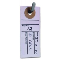 Plain White Key Location Card Tags