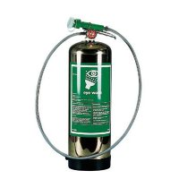 Hughes Portable Emergency Eye, Face and Body Wash in Stainless Steel Cylinder