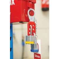 Vinyl-Coated Steel Lockout Safety Hasp with Chain