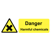 Self-adhesive Danger Harmful Chemicals On-the-Spot Safety Labels
