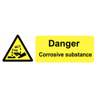 Self-Adhesive Vinyl Corrosive Substance Warning Labels