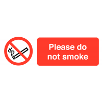Please Do Not Smoke' Self-Adhesive Vinyl Labels