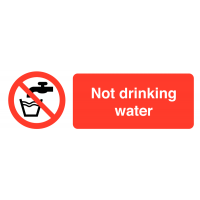 Not Drinking Water' Self-Adhesive Vinyl Warning Labels