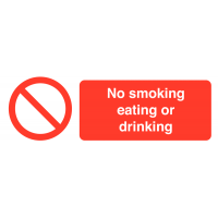 No Smoking Eating Or Drinking' Self-adhesive Labels