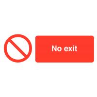 No Exit' Self-Adhesive Vinyl Warning Labels