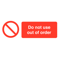 Do Not Use – Out of Order' Self-Adhesive Vinyl Labels