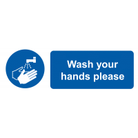 Easy To Mount Vinyl Wash Your Hands On The Spot Please Labels
