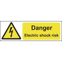 Self-Adhesive Vinyl Electric Shock Warning Labels