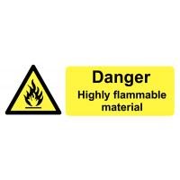 High gloss Danger Highly Flammable On-the-Spot Safety Labels