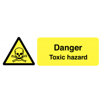 Easy stick Danger Toxic Hazard On-the-Spot Safety Labels