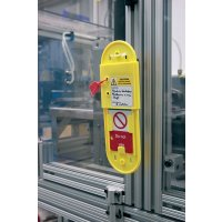Safety message sliding tag holder for multiple purposes