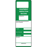 Durable Polyester Equipment Inspection Record Tags