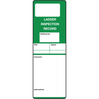 'Ladder Inspection Record' Tough Write-On Polyester Tags