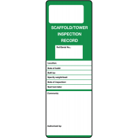 Safety Tag System - Scaffold Tower Inspection Record