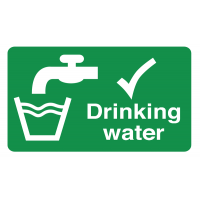 Convenient drinking water information labels
