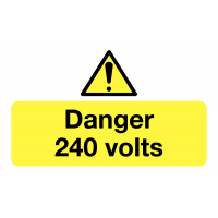 Danger 240 Volts Safety Label Roll