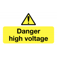 Self-adhesive Danger High Voltage Vinyl Safety Labels On-a-Roll
