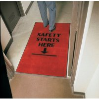 Heavy-Duty Safety Slogan Carpet Mats