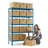 Heavy-duty document storage boxes