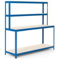 Sturdy 4 Shelf Economy Workbenches