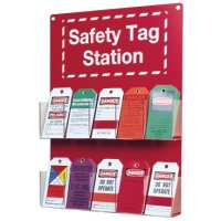 Wall mounted safety tag station