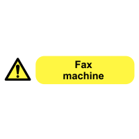 Self-adhesive Fax Machine Socket Labels