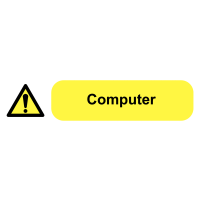 Self-Adhesive Computer Socket Warning Labels