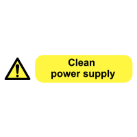 Clean Power Supply Socket Warning Labels for Safety