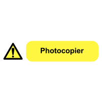 Self-Adhesive Vinyl Photocopier Plug Socket Warning Labels