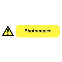 Self-Adhesive Vinyl Photocopier Plug Socket Warning Labels