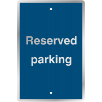 UV-resistant reserved parking post mountable traffic signs