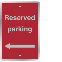 Weather-resistant 'Reserved Parking' Sign with Left Arrow Image