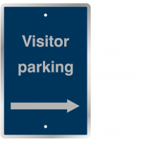 Visitor Parking Right Arrow Post Mountable UV Resistant Traffic Signs
