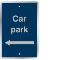 Post-Mountable Car Parking Navigation Signs with Left Arrow