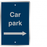 Durable Car Park (Right Arrow) - Post Mountable Traffic Signs
