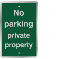 Mountable 'No Parking Private Property' Traffic Signs