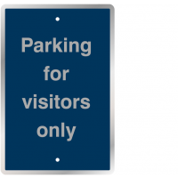 Post-Mountable Durable Traffic Signs - Parking For Visitors Only