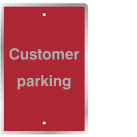 Steel 'Customer Parking' Sign Pre-Drilled for Post-Mounting