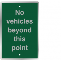 UV-resistant no vehicles traffic sign