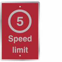 Post Mountable 5 Miles Per Hour Speed Limit Sign