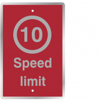 Post-Mountable 10 MPH Speed Limit Safety Signs