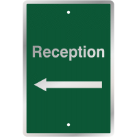 Post-Mountable Reception Direction Traffic Signs (Arrow left)