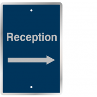 Durable reception and right arrow post mountable traffic signs