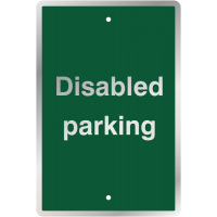 Steel and Vinyl 'Disabled Parking' Sign for Post-Mounting