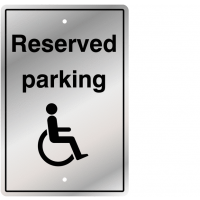 Hard-wearing and Bold Reserved Disabled Parking Traffic Signs