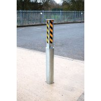 Galvanised Steel Manual Rising Bollard